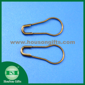 Pear shape safety pin