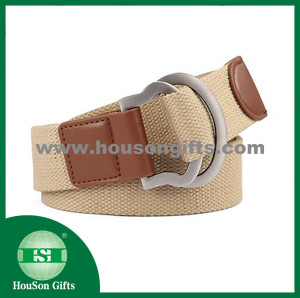 Webbing with leather belt