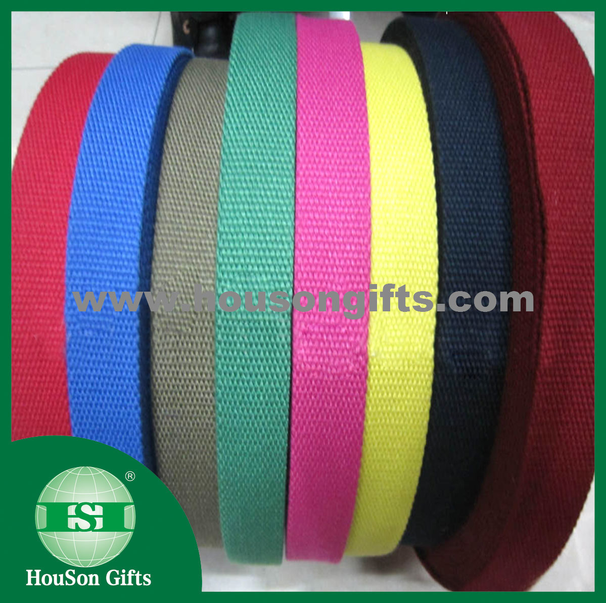 Colorful dyeing webbing