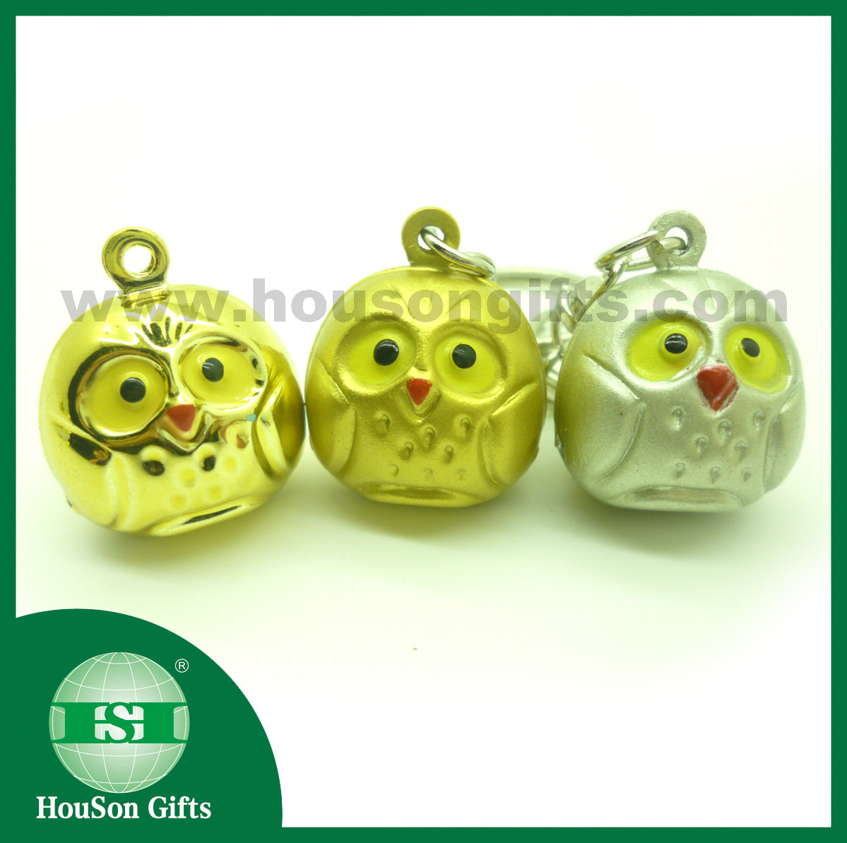 Brass owl jingle bell