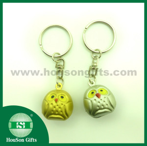 Gold sliver owl jingle bell