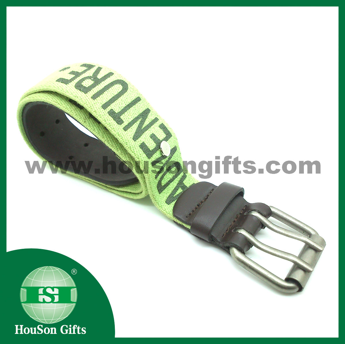 Elastic belt with leather head