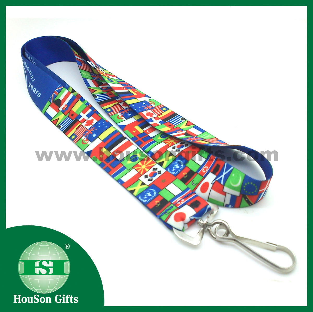 Custom printed lanyard