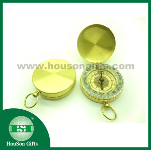 Gold brass Pocket compass