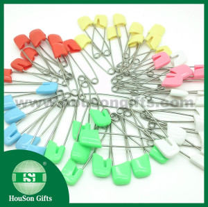 Plastic head safety pins