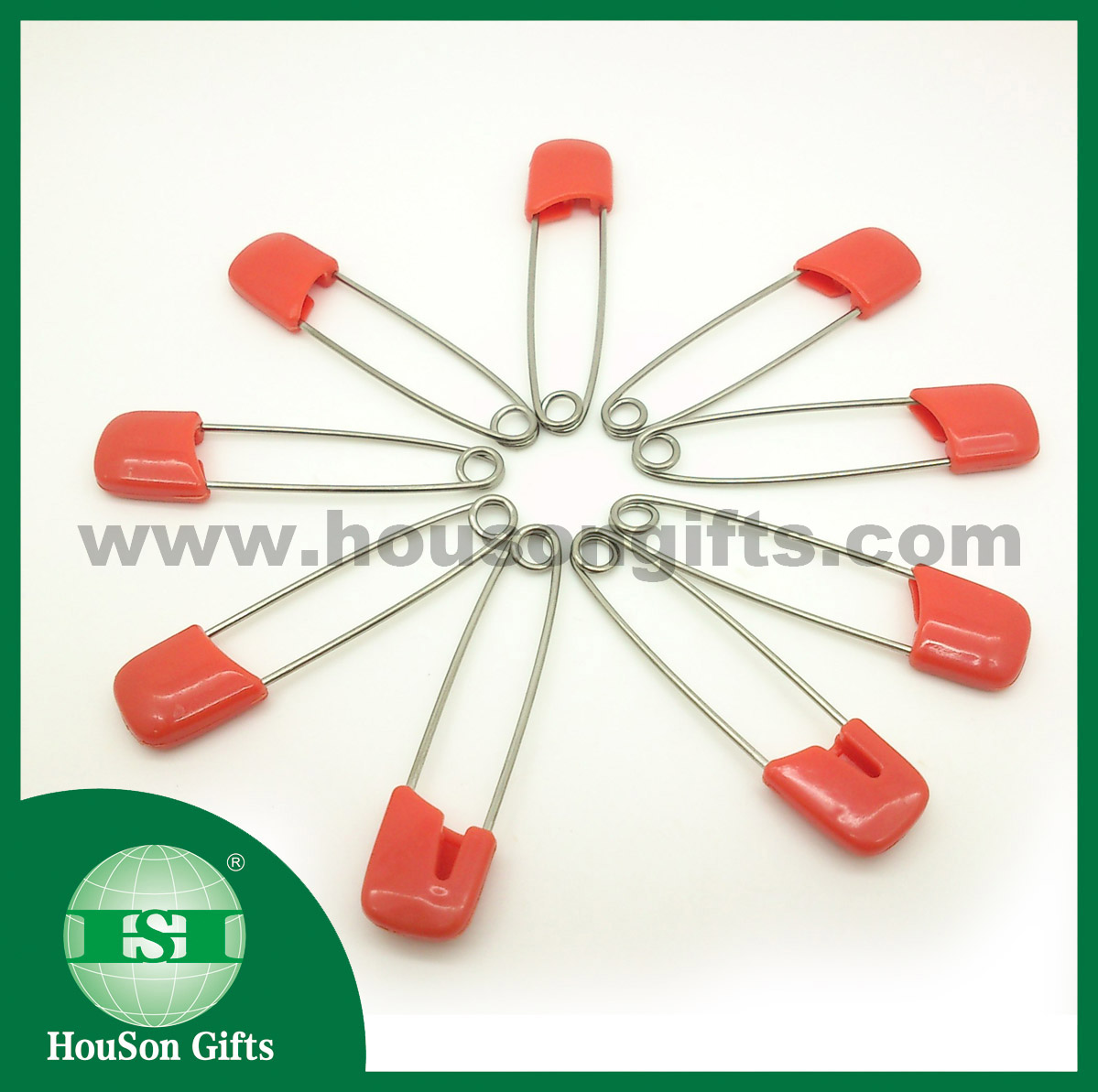 Stainless steel safety pins