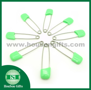 Green plastic safety pin