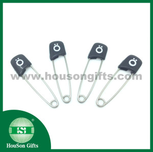 LOGO print safety pins