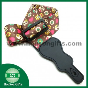 Flower skull guitar strap part