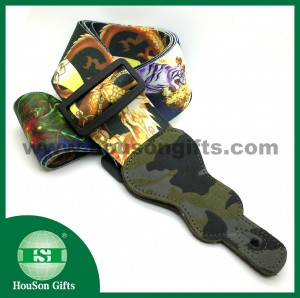 Tiger Dragon patterned guitar strap