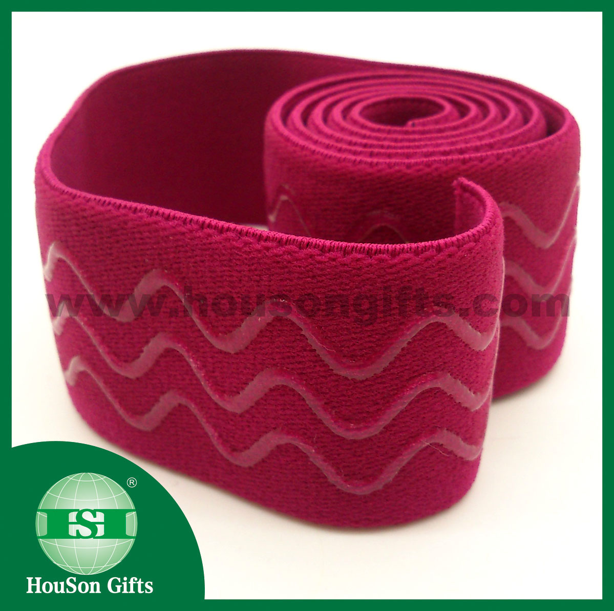 Wave silicon wide elastic waistband