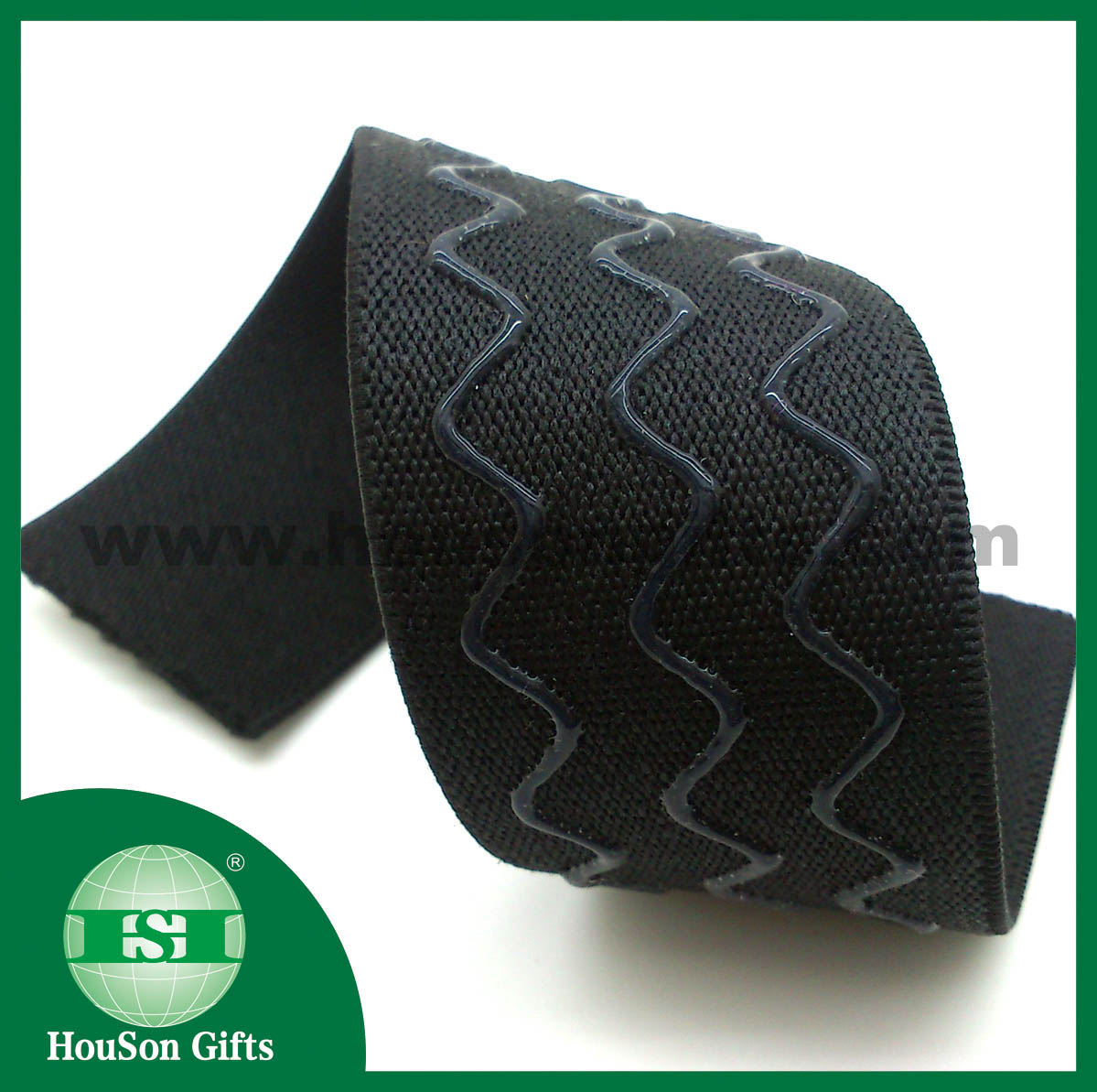 Wave shape silicon black  elastic