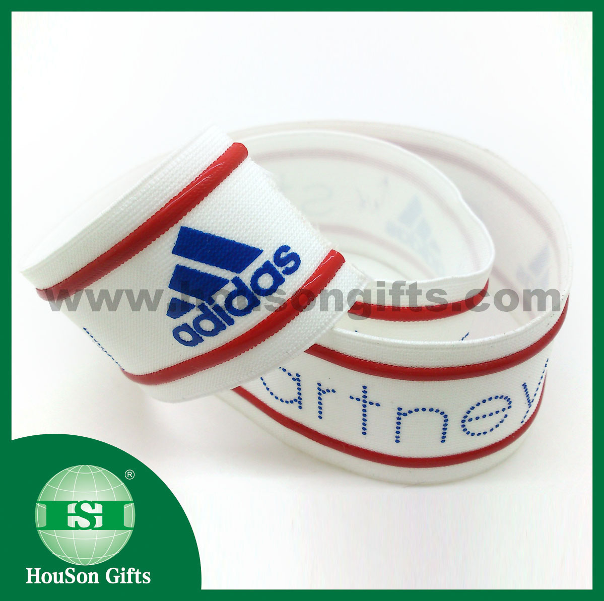 Silicon logo printed elastic tape