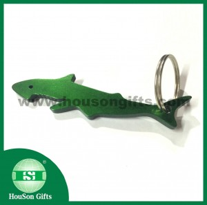 Colored shark bottle opener